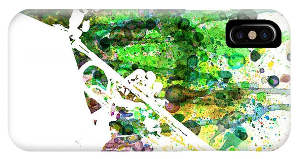 Saxophone iPhone Case - Miles Davis 2 by Naxart Studio