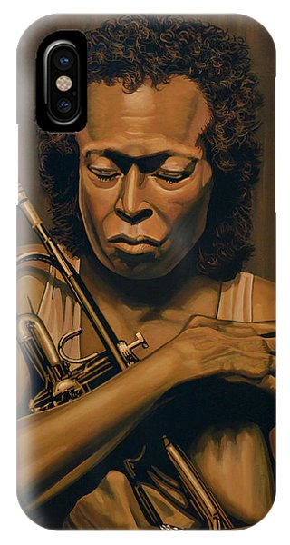 Trumpet iPhone Case - Miles Davis Painting by Paul Meijering