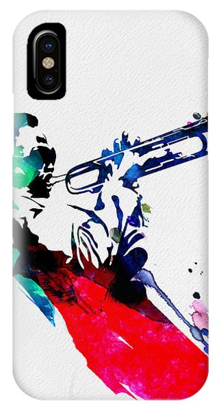Jazz iPhone Case - Miles Watercolor by Naxart Studio