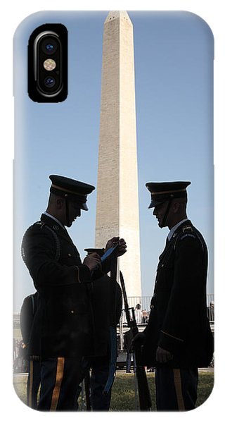 iPhone Case - Military Ceremony At The Washington Monument by William Kuta