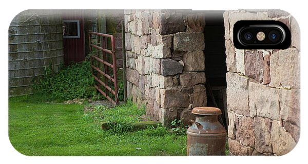 Milk Can At Stone Barn IPhone Case