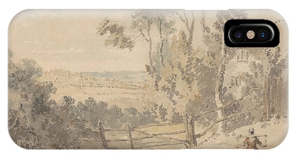Milkmaid And Dog In A Landscape IPhone Case