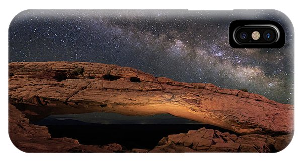 Milky Way Above Mesa Arch. Phone Case by Johnny Adolphson