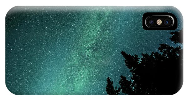 Milky Way Above The Trees IPhone Case