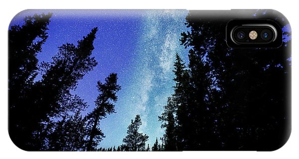 Milky Way Among The Trees IPhone Case