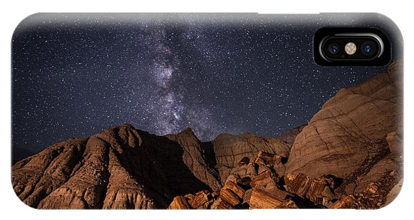 Milky Way And Petrified Logs IPhone Case