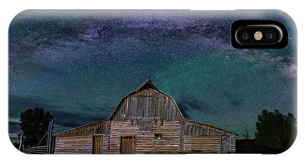Milky Way Arch Over Moulton Barn IPhone Case