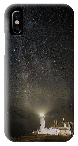 Milky Way At Pemaquid Light IPhone Case