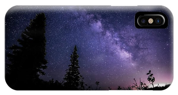Milky Way At Powder Mountain IPhone Case
