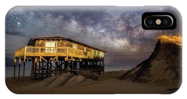 Milky Way Beach House IPhone Case
