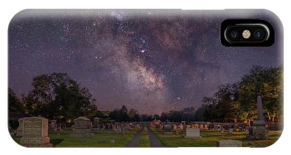 Spin iPhone Case - Milky Way Cemetery by Michael Ver Sprill