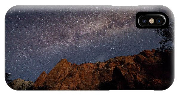 Milky Way Galaxy Over Zion Canyon IPhone Case