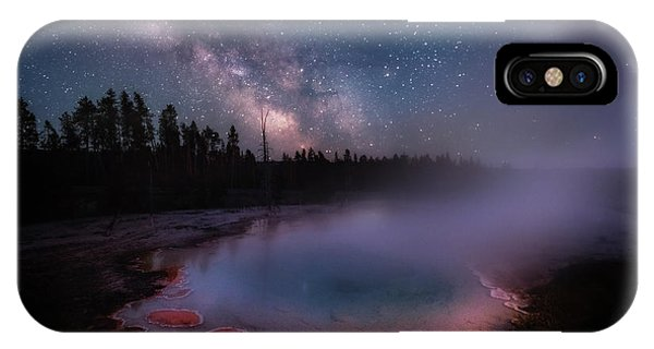 Milky Way In Yellowstone IPhone Case