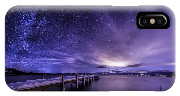 Milky Way Mountains IPhone Case