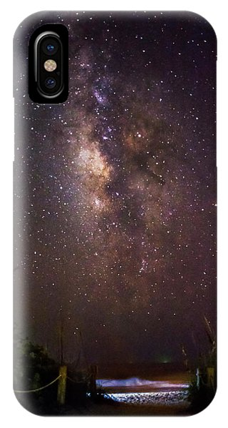 Milky Way Over Beach Access IPhone Case