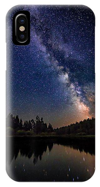Milky Way Over The Deschutes River IPhone Case
