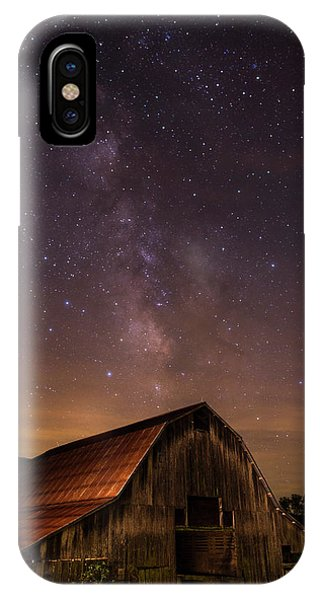 Milky Way Over Boxley Barn IPhone Case