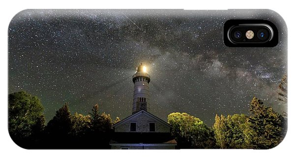 Milky Way Over Cana Island Lighthouse IPhone Case