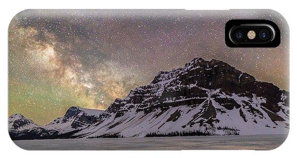 Milky Way Over Crowfoot Mountain IPhone Case