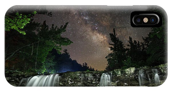 Milky Way Over Falling Waters IPhone Case