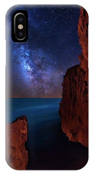 Milky Way Over Huchinson Island Beach Florida IPhone Case