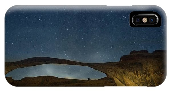 Milky Way Over Landscape Arch IPhone Case