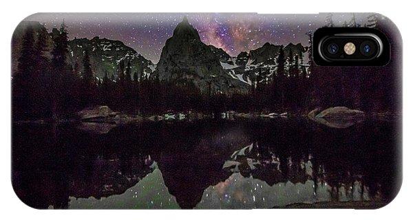Indian Peaks Wilderness iPhone Case - Milky Way Over Lone Eagle Peak And Mirror Lake by The Hiking Mermaid