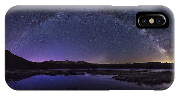 Milky Way Over Lonesome Lake IPhone Case
