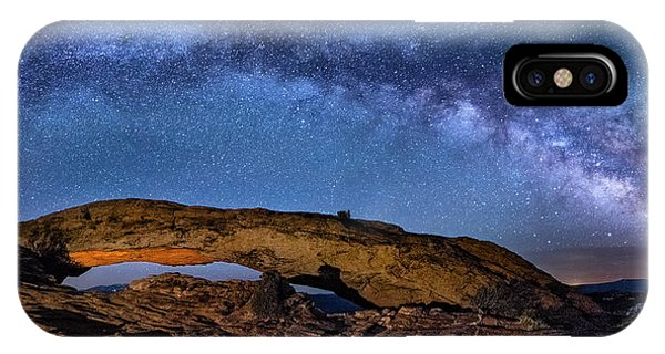 Milky Way Over Mesa Arch IPhone Case