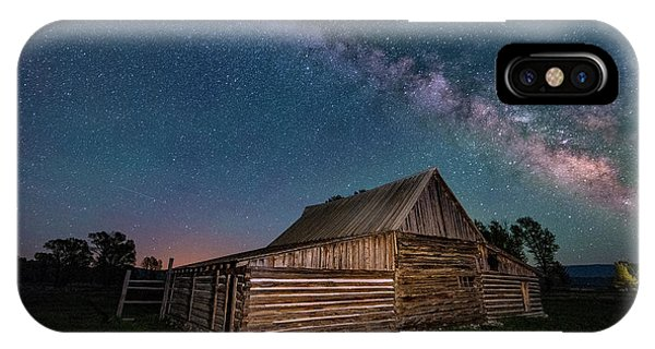 Milky Way Over Moulton Barn IPhone Case
