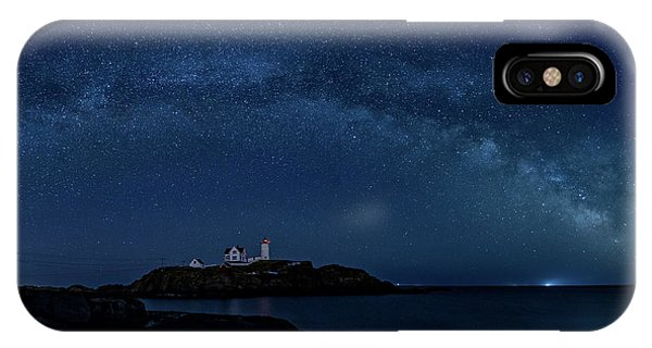 IPhone Case featuring the photograph Milky Way Over Nubble by Darryl Hendricks