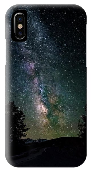 IPhone Case featuring the photograph Milky Way Over Rocky Mountains by Gary Lengyel