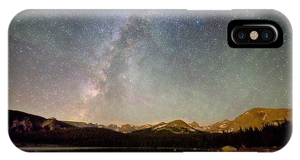 Indian Peaks Wilderness iPhone Case - Milky Way Over The Colorado Indian Peaks by James BO Insogna