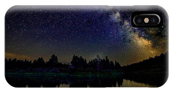 Milky Way Over The Deschutes River - 2 IPhone Case