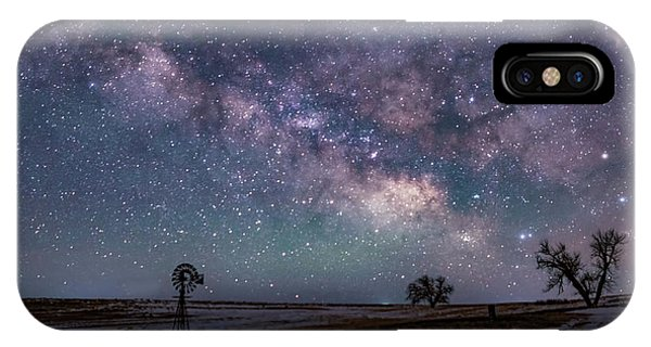 Milky Way Over The Prairie IPhone Case