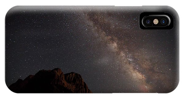 Milky Way Over Zion IPhone Case