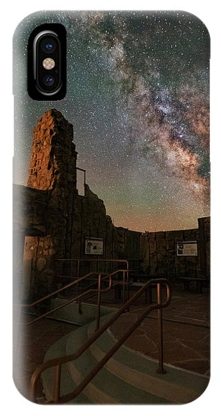 Fourteener iPhone Case - Milky Way Steps At The Crest House Ruins by Mike Berenson