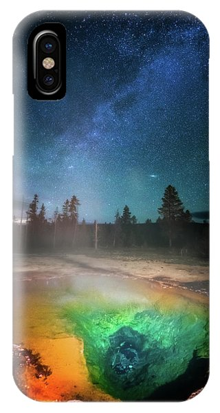 IPhone Case featuring the photograph Milky Way Thermal Pool by Darren White