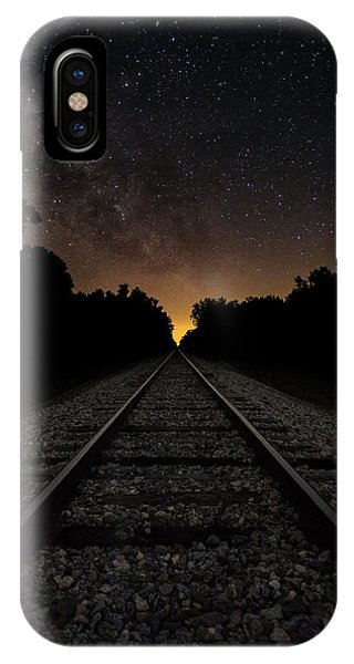 Astro iPhone Case - Milky Way Tracks by Chris Haverstick