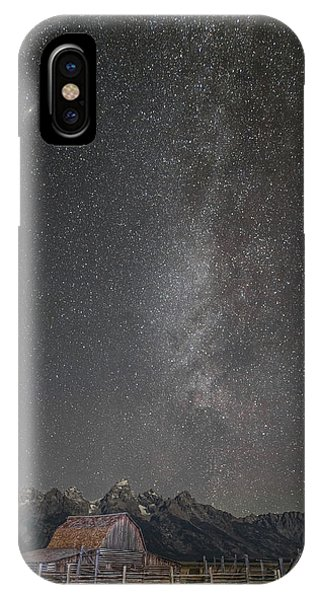Milkyway Over The John Moulton Barn IPhone Case
