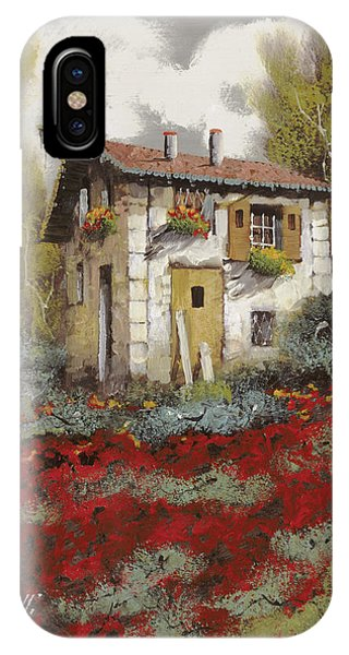 Old Houses iPhone Case - Mille Papaveri by Guido Borelli