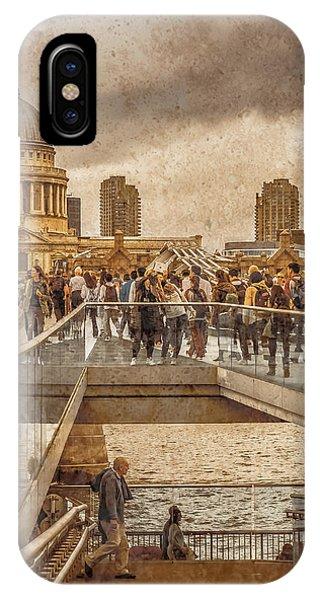London, England - Millennium Bridge II IPhone Case