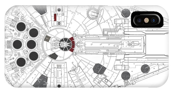 Light Speed iPhone Case - Millennium Falcon I by Nathan Shegrud