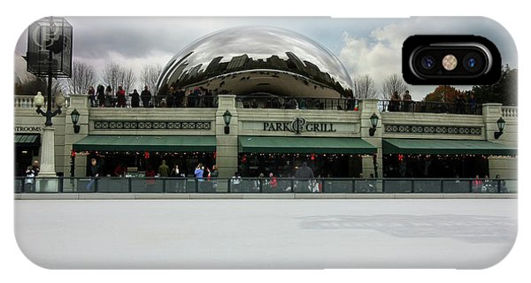 IPhone Case featuring the photograph Millennium Park Ice Skating Rink by Jackson Pearson