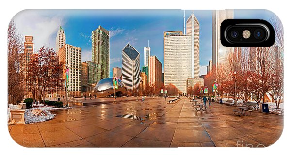 Millennium Park Skyline And The Bean  IPhone Case