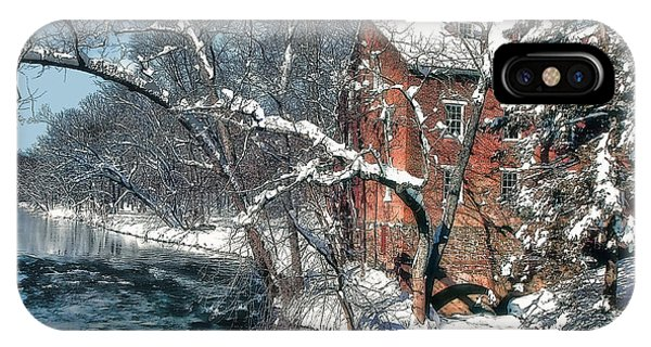 Mill House In Winter IPhone Case