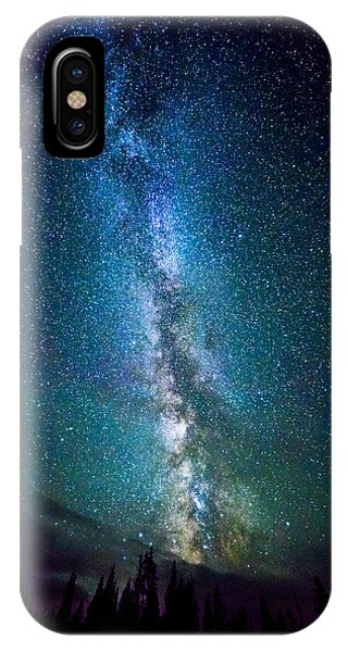 Millky Way Over Lodgepole Pines IPhone Case