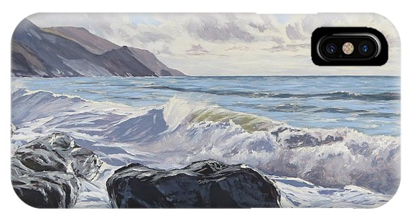 IPhone Case featuring the painting Millook Haven by Lawrence Dyer