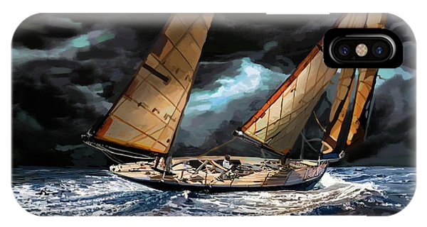 Catamaran iPhone Case - Milne Number 162 by Brad Burns
