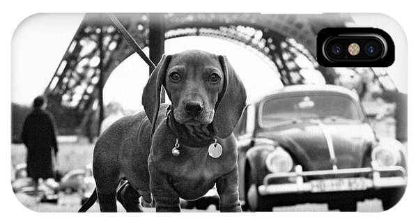 Paris iPhone Case - Milo Mon Chien by Hans Mauli